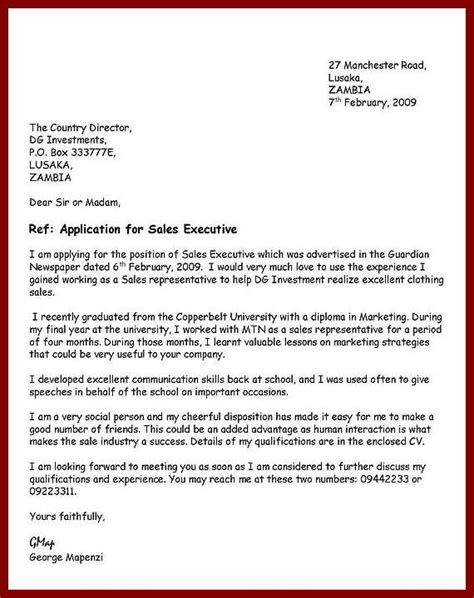 write  application letter template writing