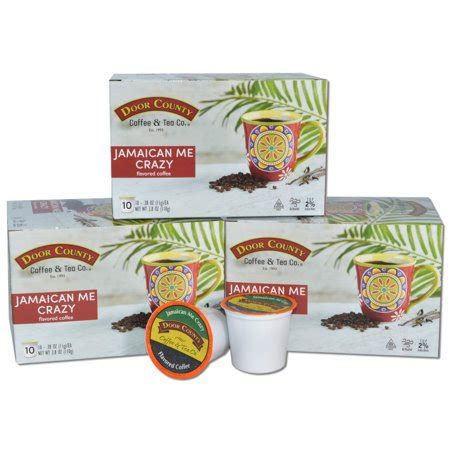 We, at exhibitcoupon provides manually collected and. Door County Coffee Jamaican Me Crazy Flavored Coffee Single Serve Cups - 30 Count - Walmart.com