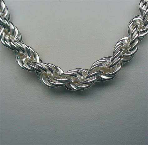 sterling silver rope necklace mm