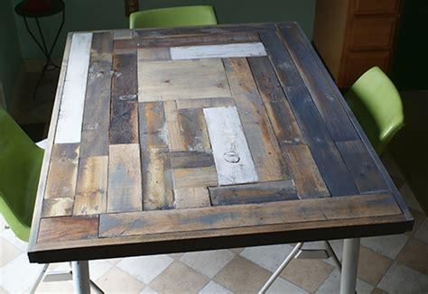 hometalk reclaimed wood table top resurface diy