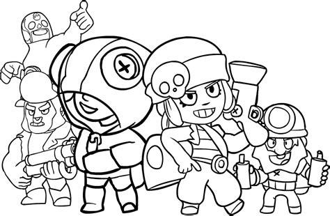 brawl tutti i personaggi disegni disegni da colorare brawl zwiftitaly