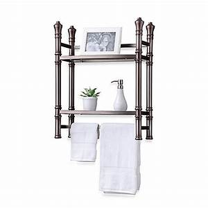 monaco no tools small etagere in brushed titanium bed With small bathroom etagere