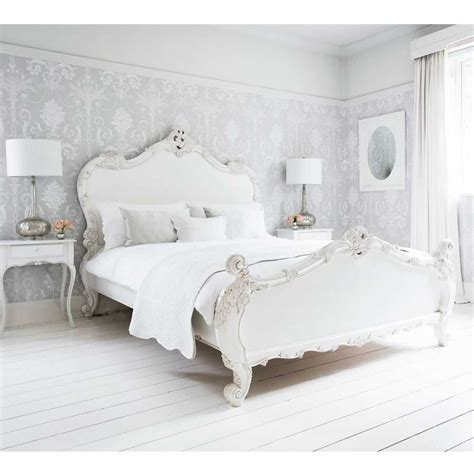 Provencal Sassy White French Bed (Double) French
