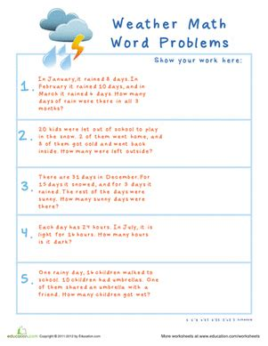 subtraction word problems worksheet education com