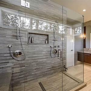 une salle de bains grise l gance et chic contemporain - Stratifie Mural Salle De Bain