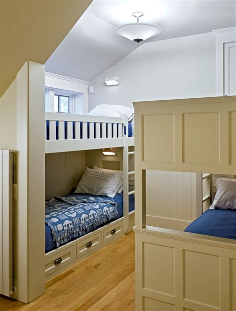 12 Bedrooms With Cool Built Ins by Bunk Bed Images Traditional With Beige Wall Built In