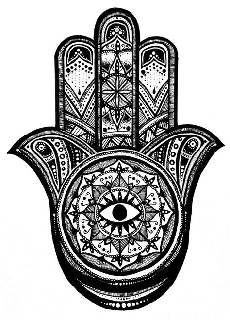 48 best images about Hamsa on Pinterest   Hamsa drawing