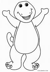 Barney Coloring Pages Tv Shows Printable Cool2bkids Film sketch template