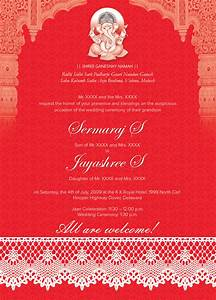 indian wedding card 01 3 colors invitation templates With indian wedding cards format hindu