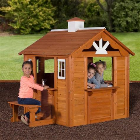 Backyard Cottage Playhouse by Backyard Discovery Summer Cottage Playhouse Kid S