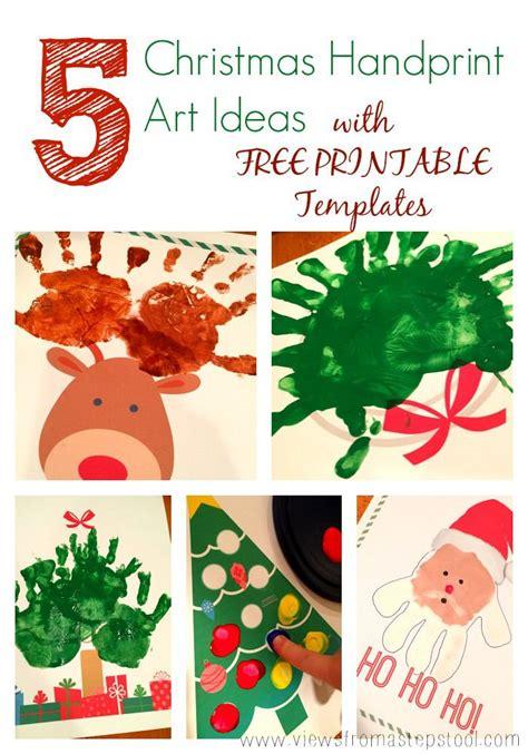 christmas handprint art printables  gifting decor