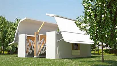 Foldable Buildings Tenfold Ten Designtaxi Architecture Structures