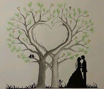 hochzeit fingerabdruck herz herz wedding tree hochzeit baum g 228 stebuch fingerabdruck