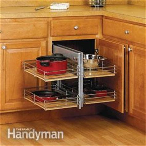 space saving kitchen cabinets small kitchen space saving tips the family handyman 5633