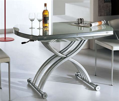 space saving coffee table lift coffee table lifts lowers opens into a full round