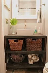 Meuble Blanc Pas Cher : meuble salle de bains pas cher 30 projets diy ~ Dailycaller-alerts.com Idées de Décoration