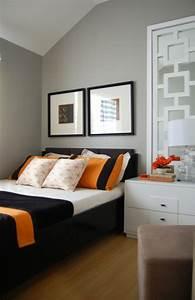 Wände Mit Farbe Gestalten : w nde gestalten schlafzimmer farbe orange raum und ~ Lizthompson.info Haus und Dekorationen