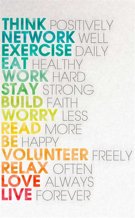 positively network  exercise daily eat