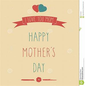 Hand Drawn Happy Mother's Day Poster Stock Vector - Image ...