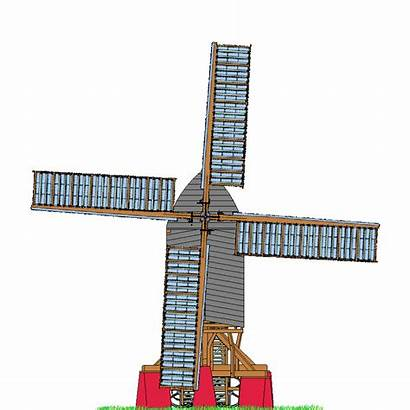 Animation Windmill Sails Windmills Works Grind Chinnor