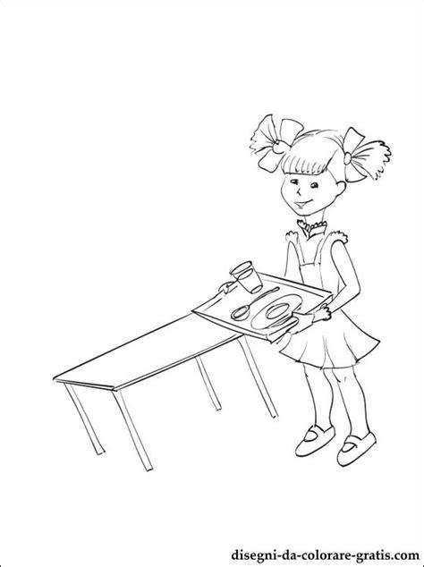 disegno  mensa scolastica da colorare disegni da