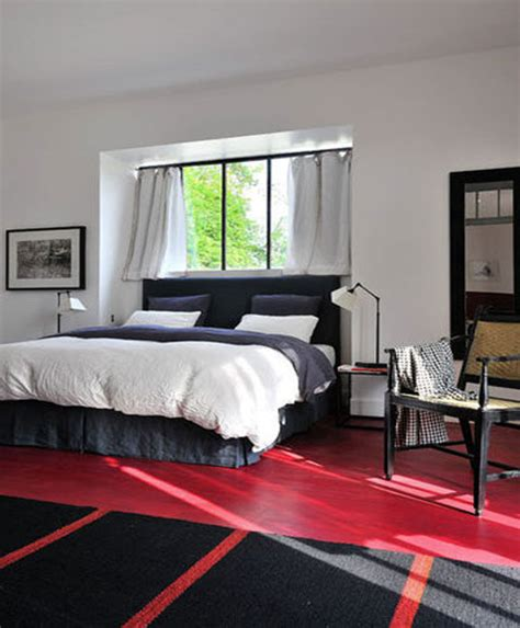 peindre meuble cuisine stratifié chambre parquet sol peint tapis noir et