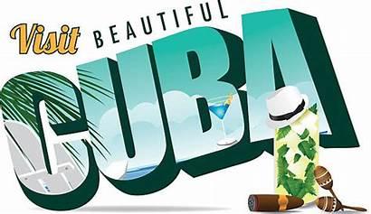 Cuba Beach Clip Postcard Illustrations Retro Vector