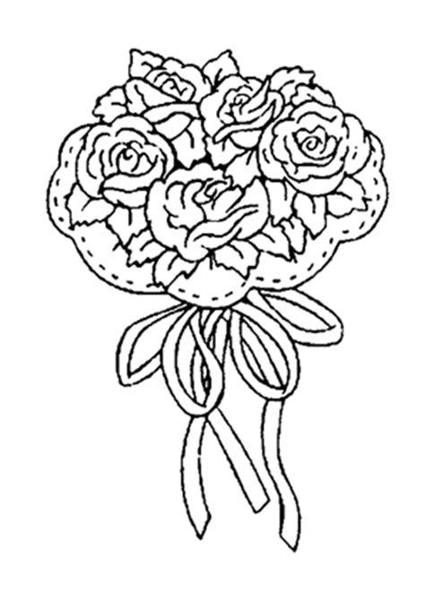 ausmalbilder blumenstrauss mit rosen  blumenstrauss