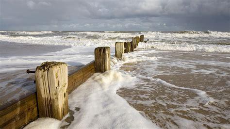 full hd wallpaper breakwater storm beach charlestone usa