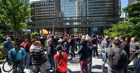 siege kfc la defense en grève les salariés d otis manifestent devant le siège