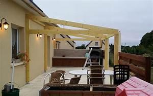 toit terrasse ossature bois 1 carport bois rennes abris With toit terrasse ossature bois