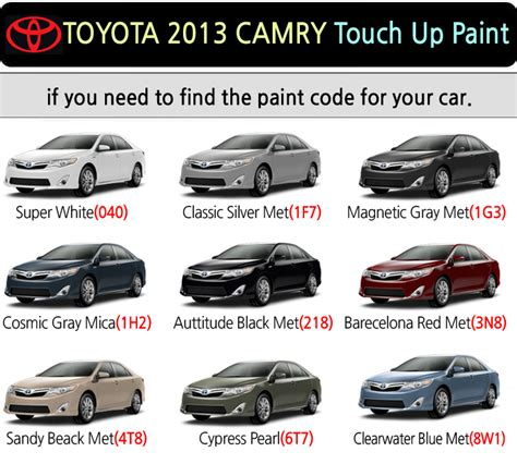 magictip toyota camry touch up paint pen 040 1f7 1g3 1h2 218 3r3 4t8 6t7 8w1