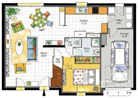 plan de maison 120m2 4 chambres charmant plan maison 120m2 3 chambres 7 maison