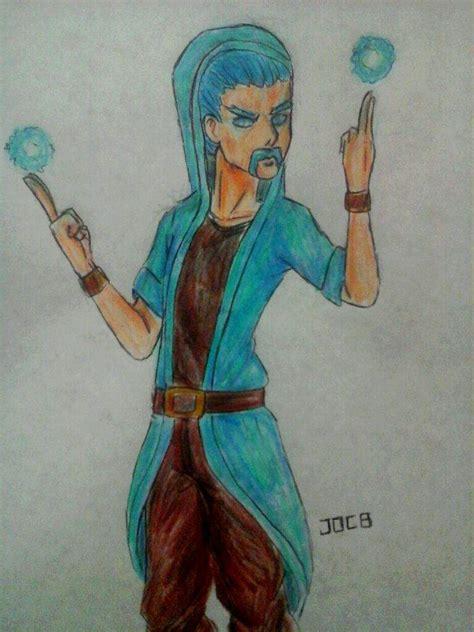 Dibujo del mago de hielo xD Clash Royale Amino ️ Amino