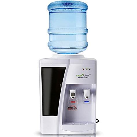 Nutrichef Countertop Water Cooler Dispenser  Hot & Cold