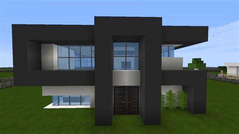 Minecraft Modernes Haus Mittwoch  Grauweiß Bauen