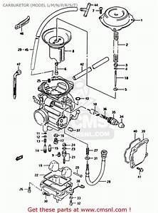 Suzuki Ltf250 1990  L  Carburetor  Model L  M  N  P  R  S  T