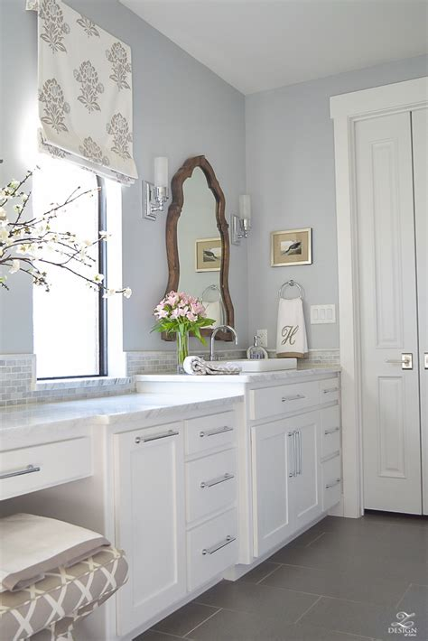 White Cabinets In Bathroom by A Transitional Master Bathroom Tour Zdesign At Home