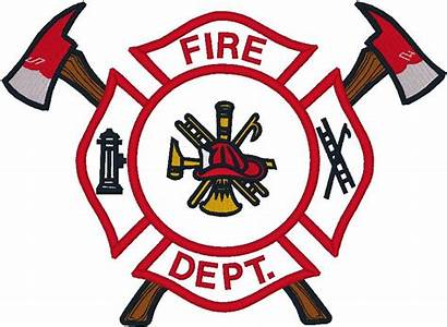 Badge Fire Firefighter Outline Clipart Police Rescue