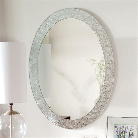 White Framed Oval Bathroom Mirror by 20 Oval Shaped Wall Mirrors Mirror Ideas