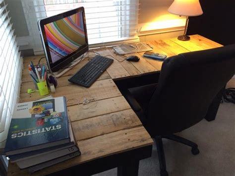 diy l shaped desk plans diy pallet l shaped computer desk pallet furniture plans