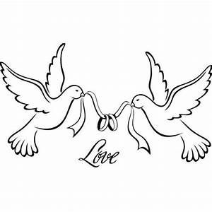Dessin Couple Mariage Noir Et Blanc : motif broderie colombe 19 nico ~ Melissatoandfro.com Idées de Décoration