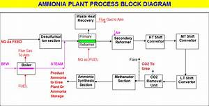 Ammonia Plant Process Flow Block Diagram