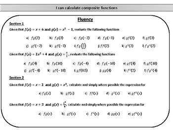 Composite Function Worksheet - Oaklandeffect