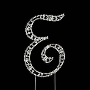 vintage swarovski crystal wedding cake topper letter e With letter e cake topper