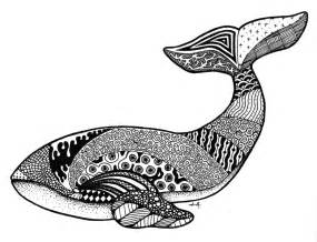 Whale Zentangle Coloring Pages
