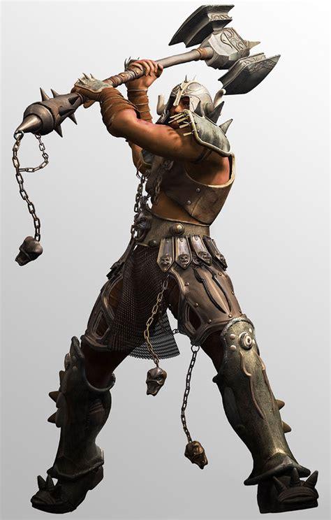 warrior hammer characters art guild wars prophecies