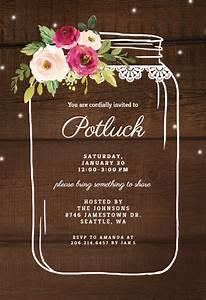 jar potluck invitation free greetings island