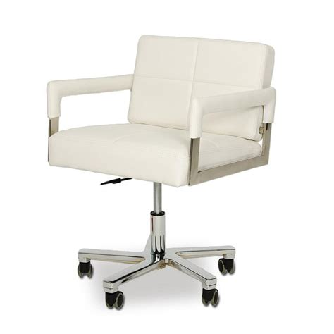 white office chair leather vig modrest alaska modern white leather office chair