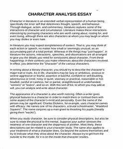 Example Of Character Analysis Essay Creative Writing Exercises For  Liesel Meminger Character Analysis Essay Sample